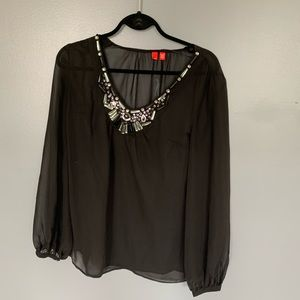 Esprit Jewelry Sheer Blouse